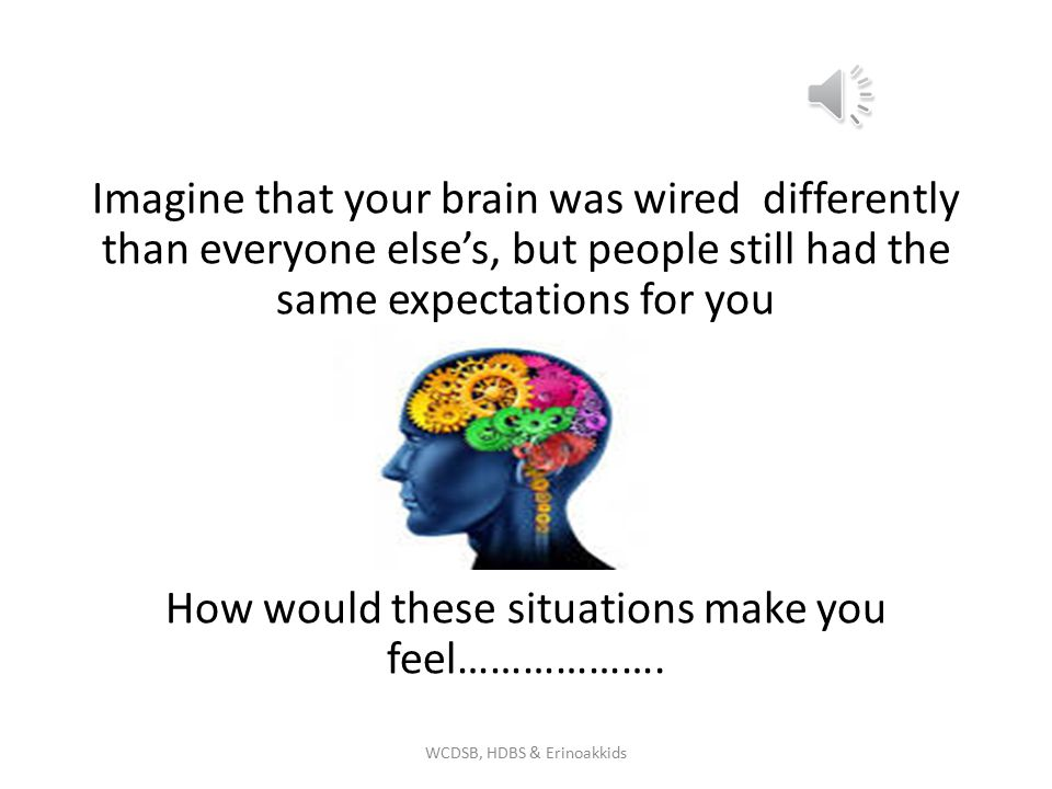 Imagine that your brain was wired differently than everyone else's, but people still had the same expectations for you How would these situations make you feel……………….