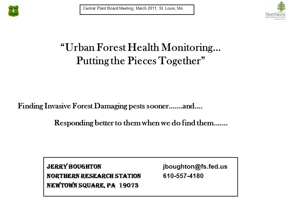 Finding Invasive Forest Damaging pests sooner…….and….