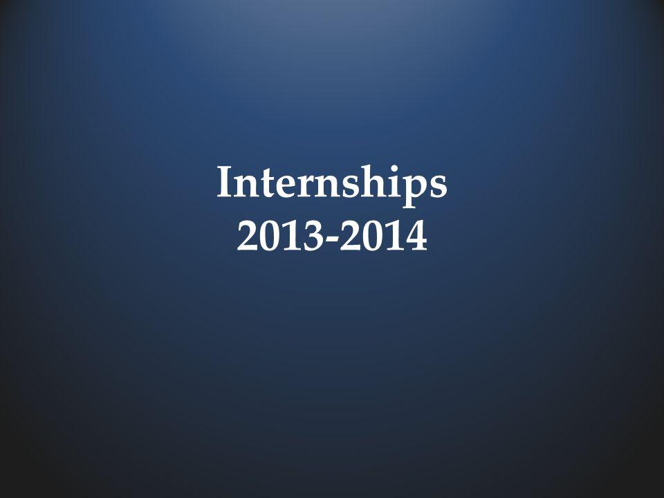 Internships 2013-2014