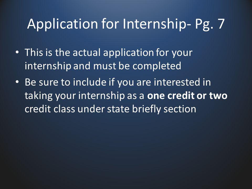 Application for Internship- Pg.