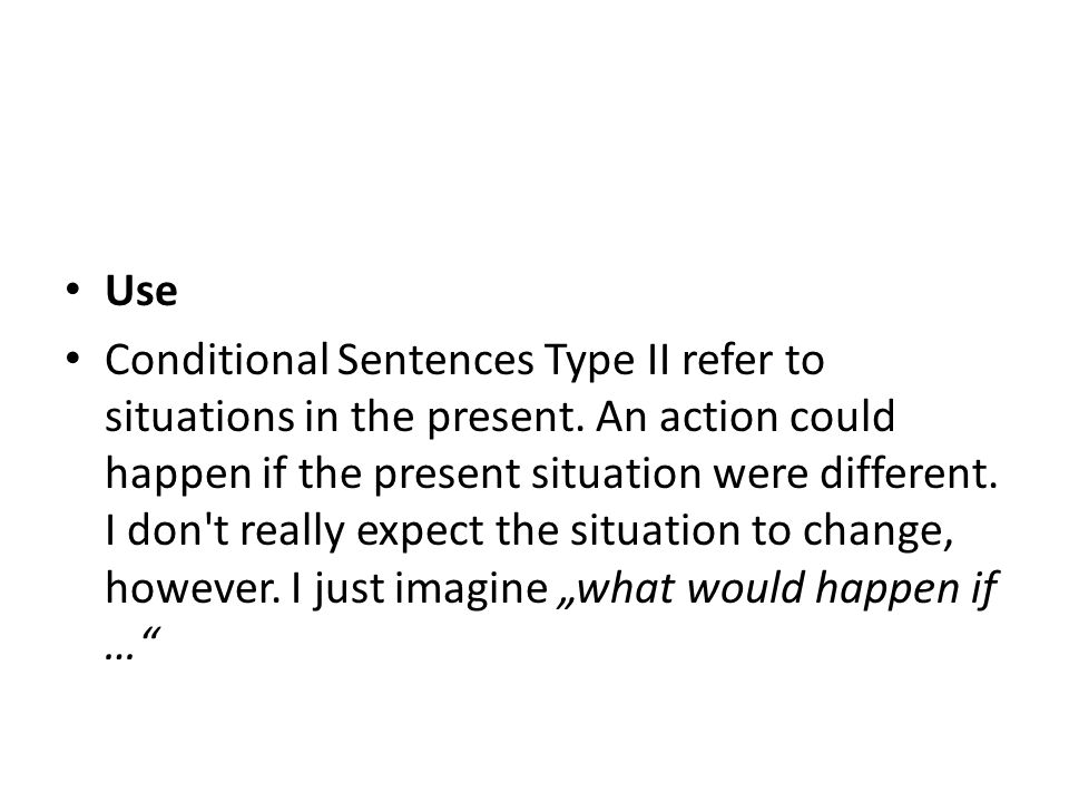 Use Conditional Sentences Type II refer to situations in the present. An action could happen if the present situation were different. I don't really e