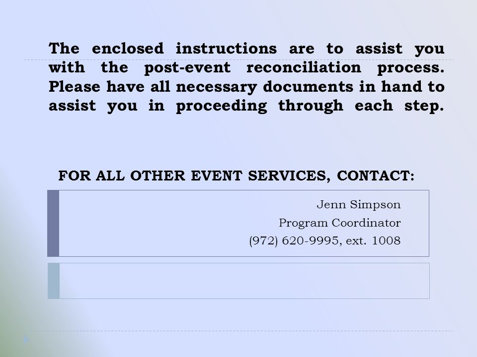 Event Payments Received and Accounting Report will always be equal.