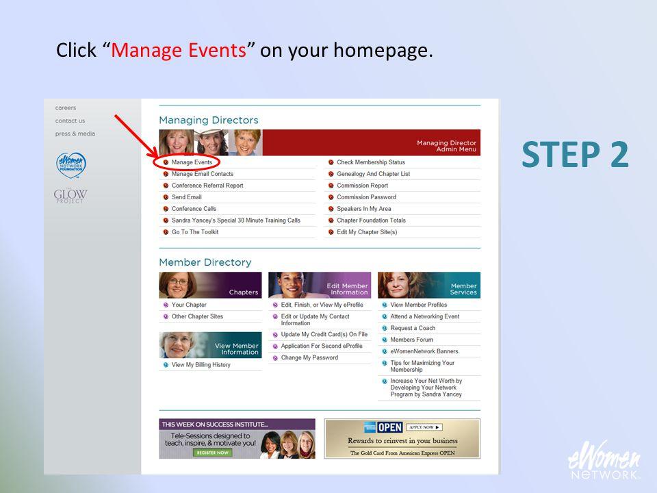Click your Menu link. STEP 23