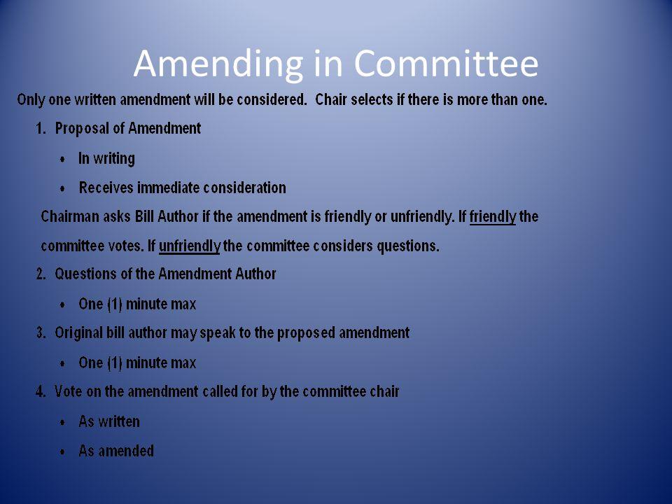 Amending in Committee