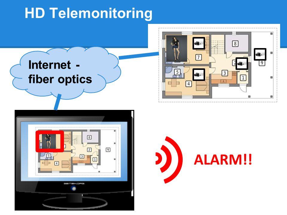 HD Telemonitoring ALARM!! Internet - fiber optics