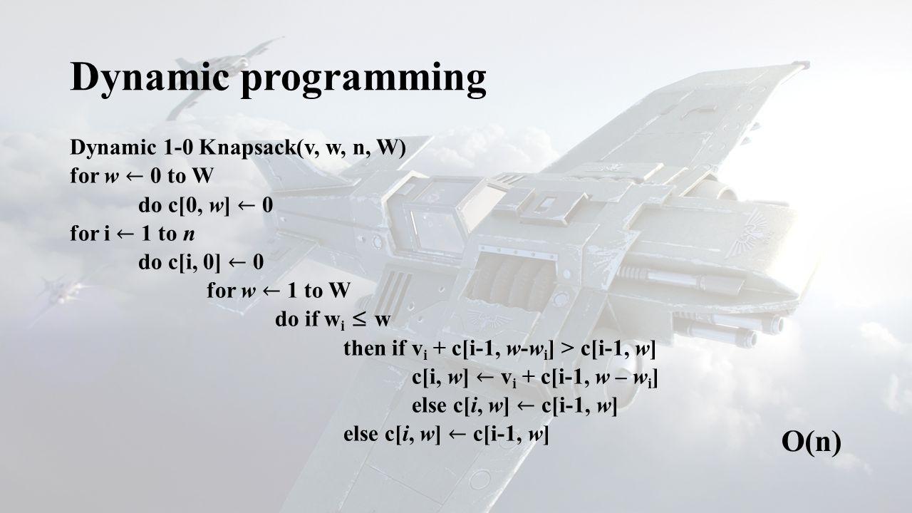 Dynamic programming O(n)