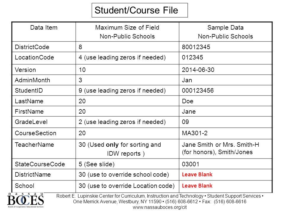 State Course Code 7 Robert E.