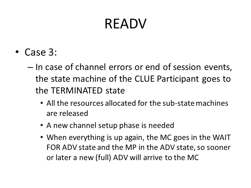 Diff mechanism for the ADV New schema for the ADV message
