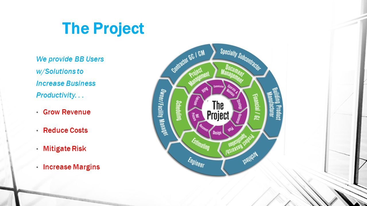 The Project We provide BB Users w/Solutions to Increase Business Productivity...
