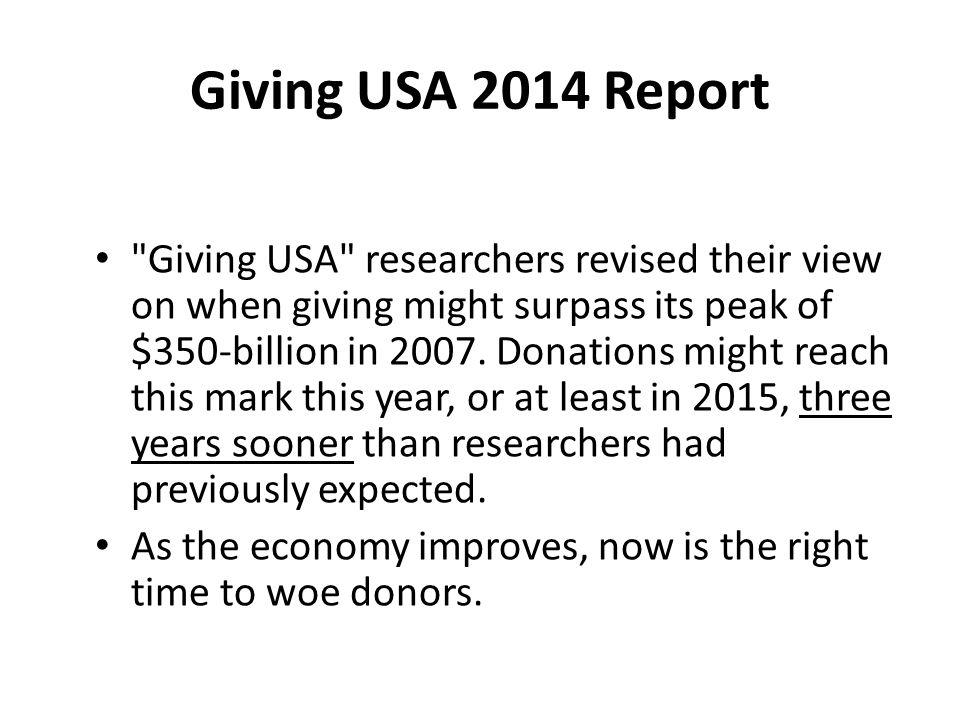 Giving USA 2014 Report