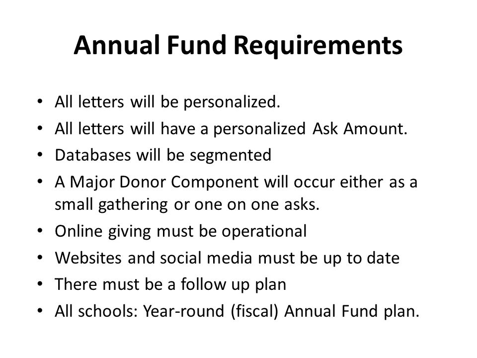 All letters will be personalized. All letters will have a personalized Ask Amount. Databases will be segmented A Major Donor Component will occur eith