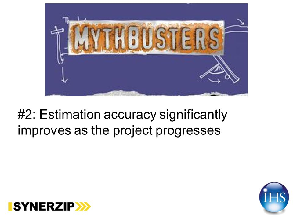 #1: Estimation challenges are well understood by General Management, Project Management, and Teams and it is normal to be able to estimate projects within 25% accuracy.