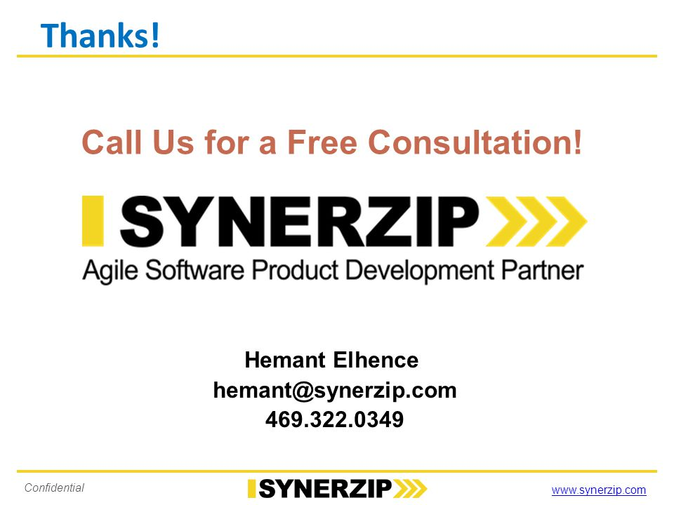 www.synerzip.com Confidential Our Clients