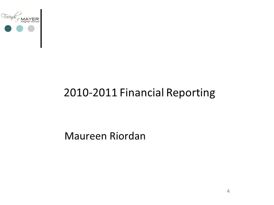 Friends of Mayer 2010-2011 Spending