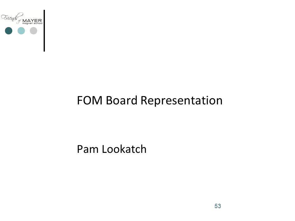 53 FOM Board Representation Pam Lookatch