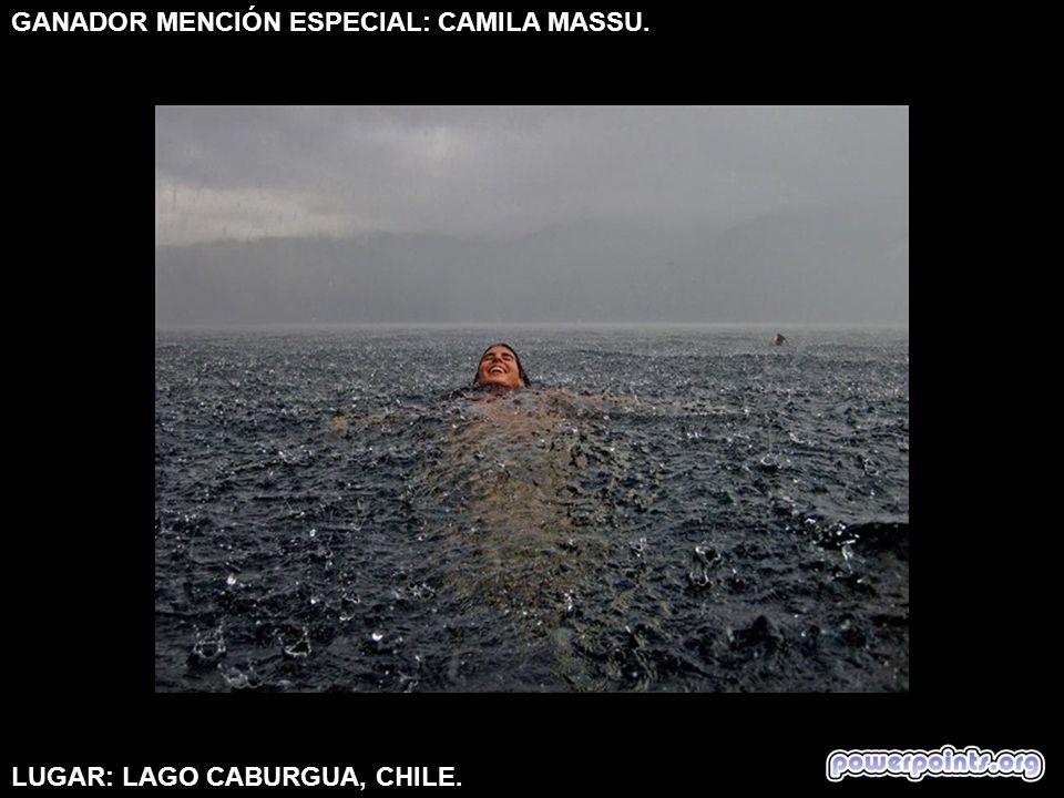 GANADOR MENCIÓN ESPECIAL: CAMILA MASSU. LUGAR: LAGO CABURGUA, CHILE.
