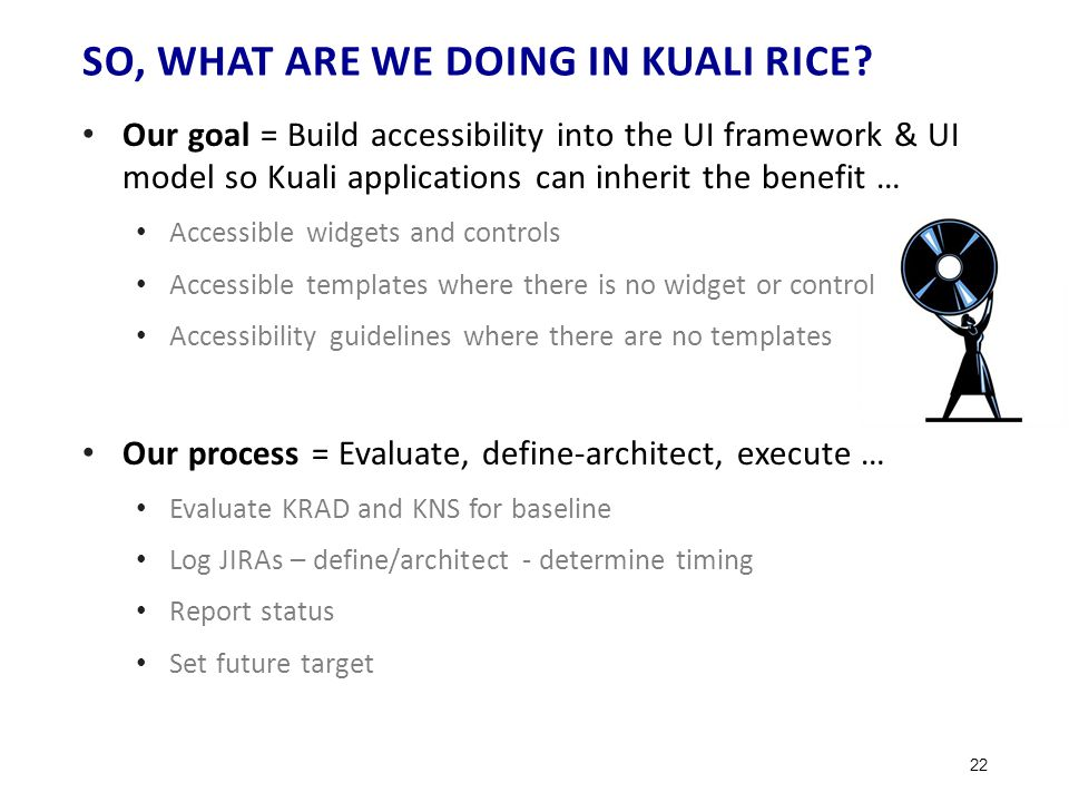 SO, WHAT ARE WE DOING IN KUALI RICE.