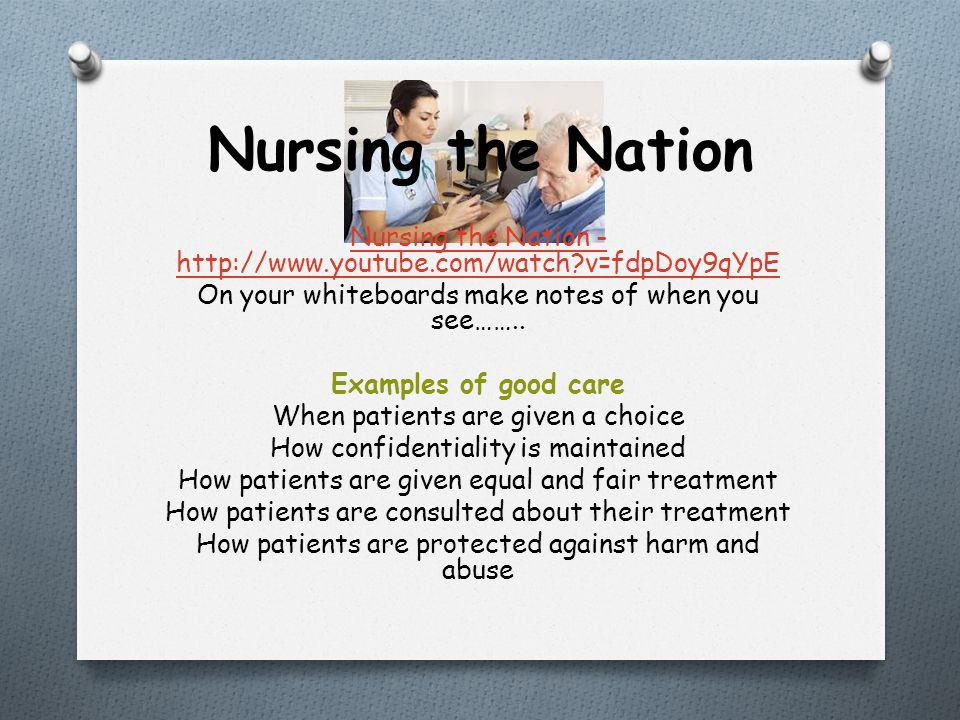 Nursing the Nation Nursing the Nation - http://www.youtube.com/watch?v=fdpDoy9qYpE On your whiteboards make notes of when you see…….. Examples of good