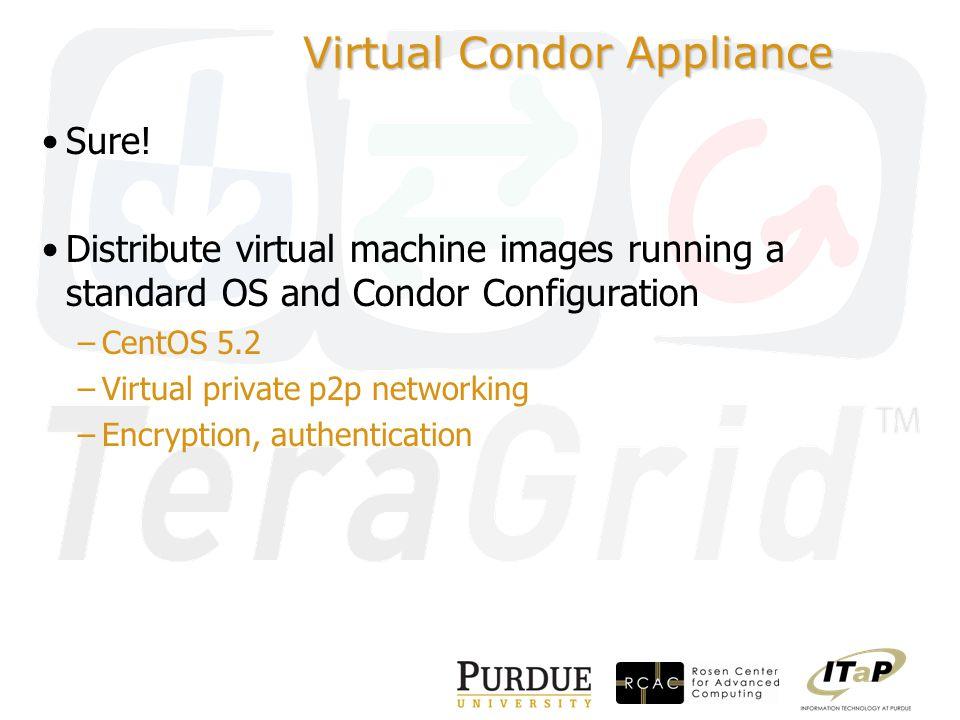 Virtual Condor Appliance Sure.