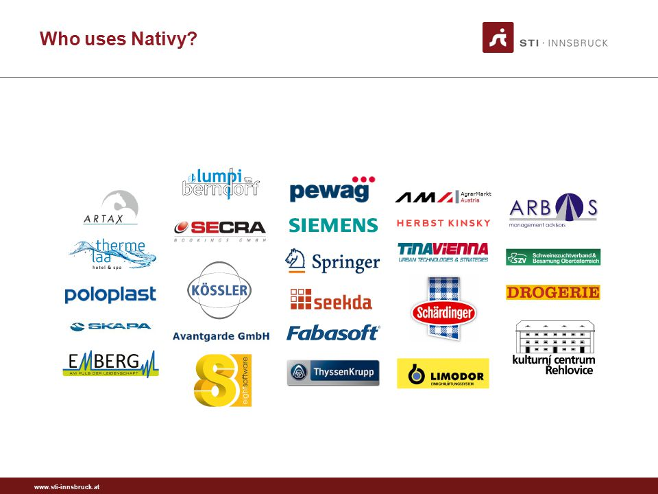 www.sti-innsbruck.at Who uses Nativy