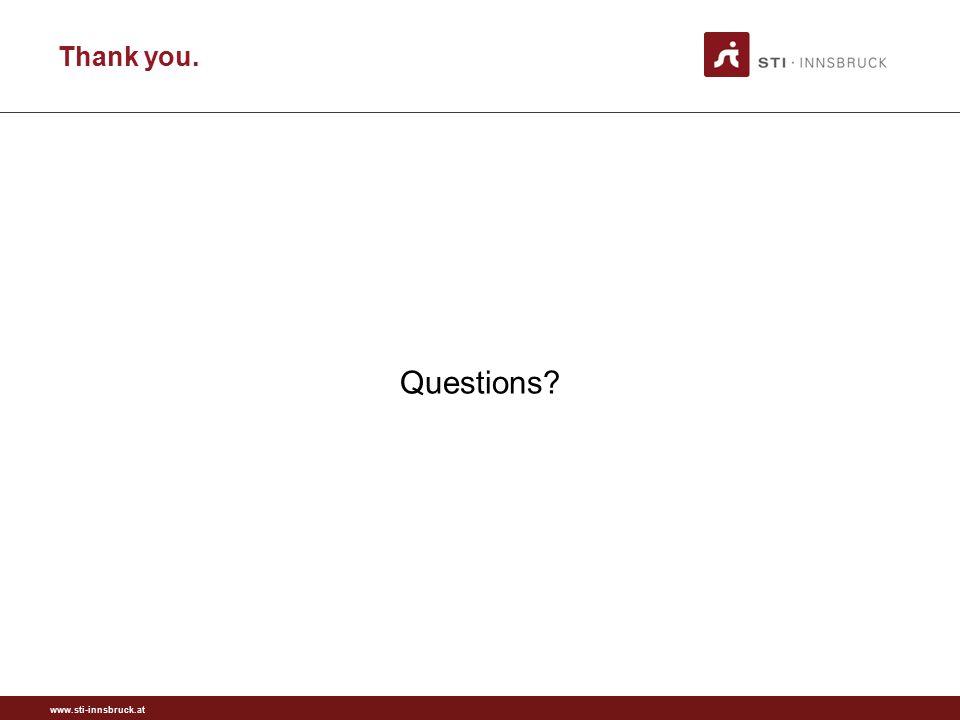 www.sti-innsbruck.at Thank you. Questions