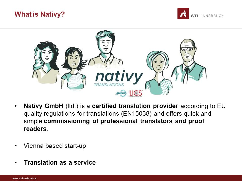 www.sti-innsbruck.at Who is Nativy?