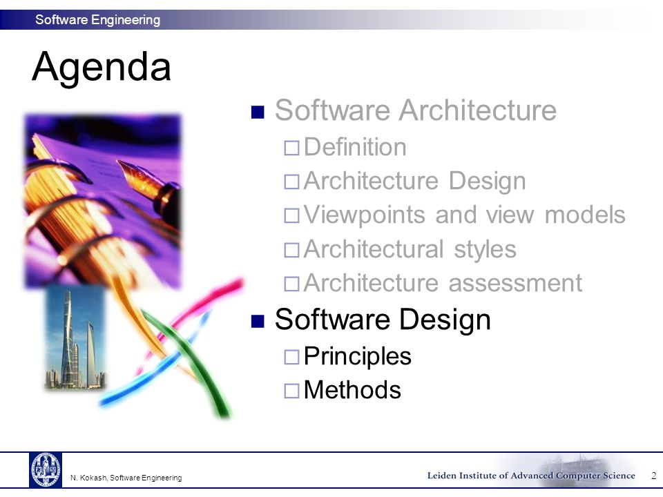 Software Engineering Fundamental issues in JSP Model input and output using structure diagrams Merge diagrams to create program structure Meanwhile, resolve structure clashes  Clash = there is no obvious correspondence between the input and output structures Optimize results through program inversion  Design simple programs using JSP and then invert one (or more) programs to optimize the design.
