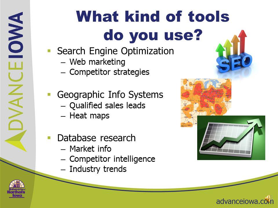 What kind of tools do you use.