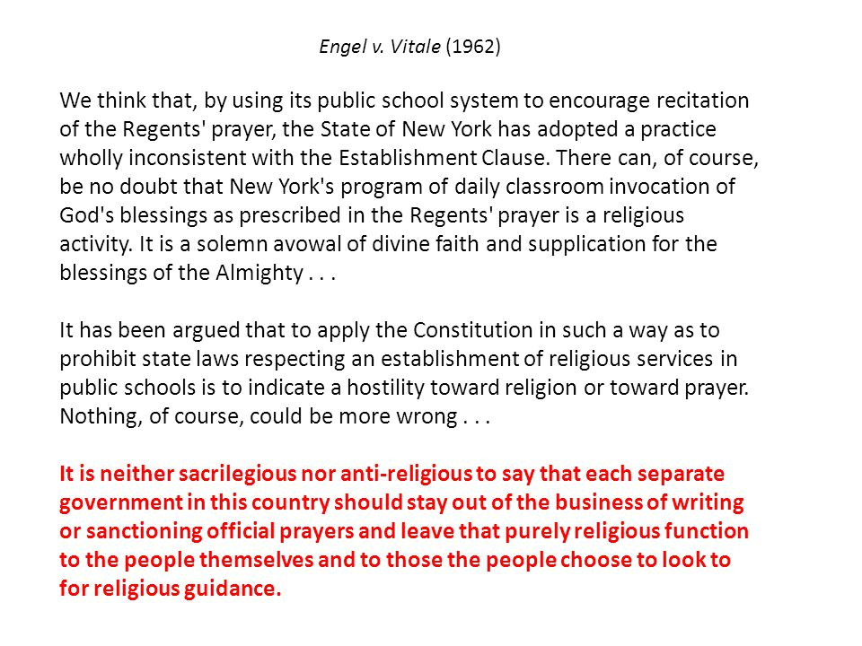 Regents' prayer—New York Almighty God, we acknowledge our dependence upon Thee, and we beg Thy blessings upon us, our parents, our teachers and our Country.