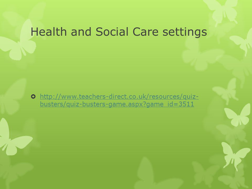 Key words/Glossary  What might you be called if you use a health and social care service.