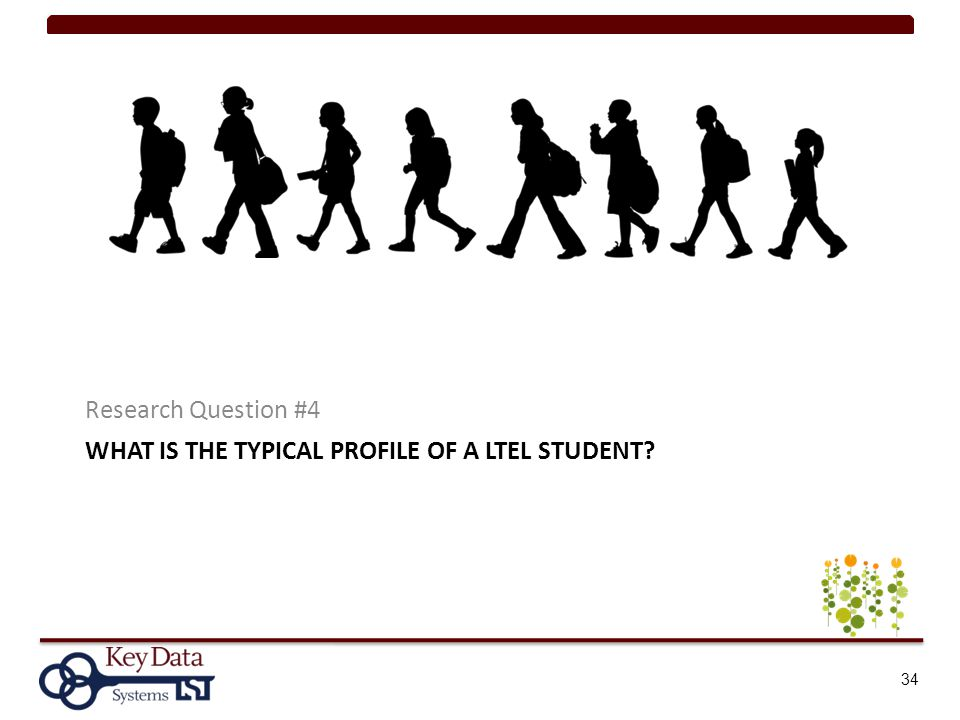 WHAT IS THE TYPICAL PROFILE OF A LTEL STUDENT? Research Question #4 34