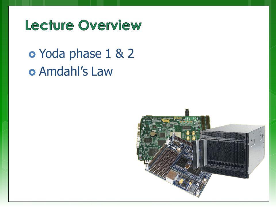  Yoda phase 1 & 2  Amdahl's Law