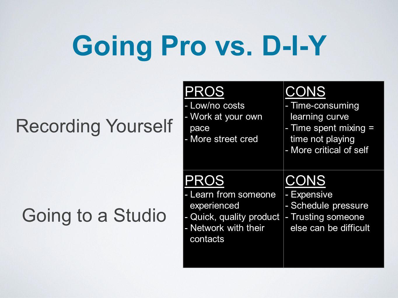 Going Pro vs.