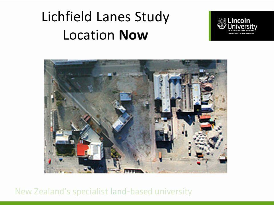 Lichfield Lanes Study Location Now