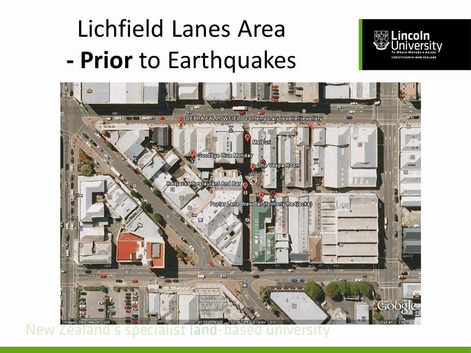Lichfield Lanes Area - Prior to Earthquakes