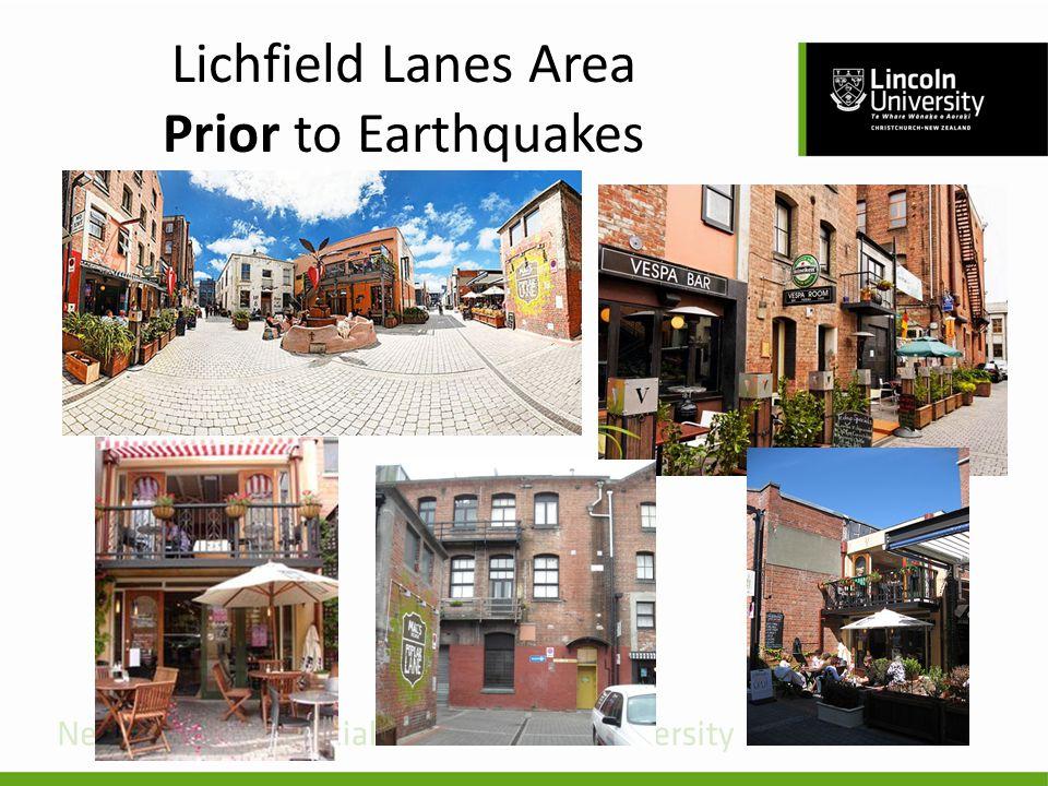 Lichfield Lanes Area Prior to Earthquakes