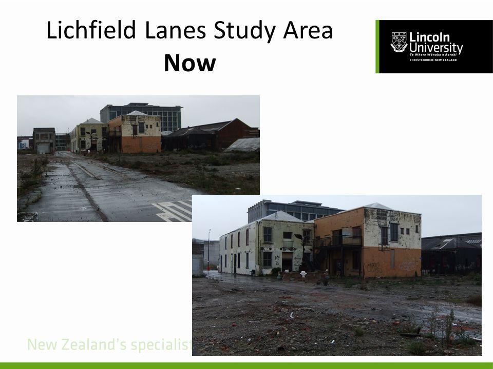 Lichfield Lanes Study Area Now