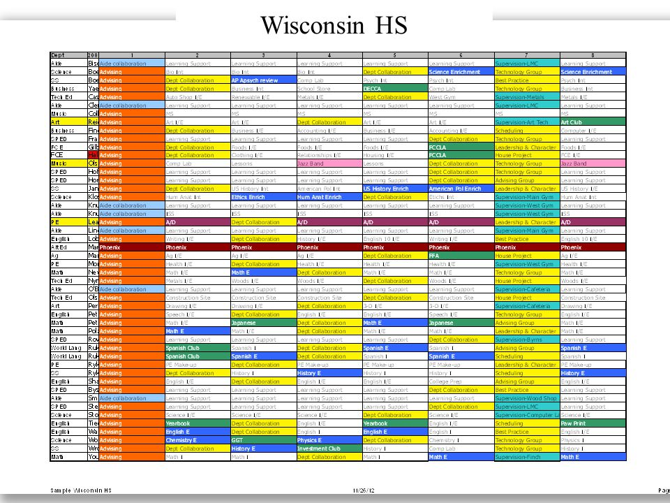Tutorial Calendar Wisconsin HS