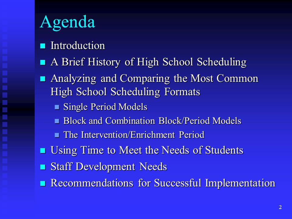 23 Science Lab Options in Single-Period Schedules: Teacher Schedule Period 1 Chem.
