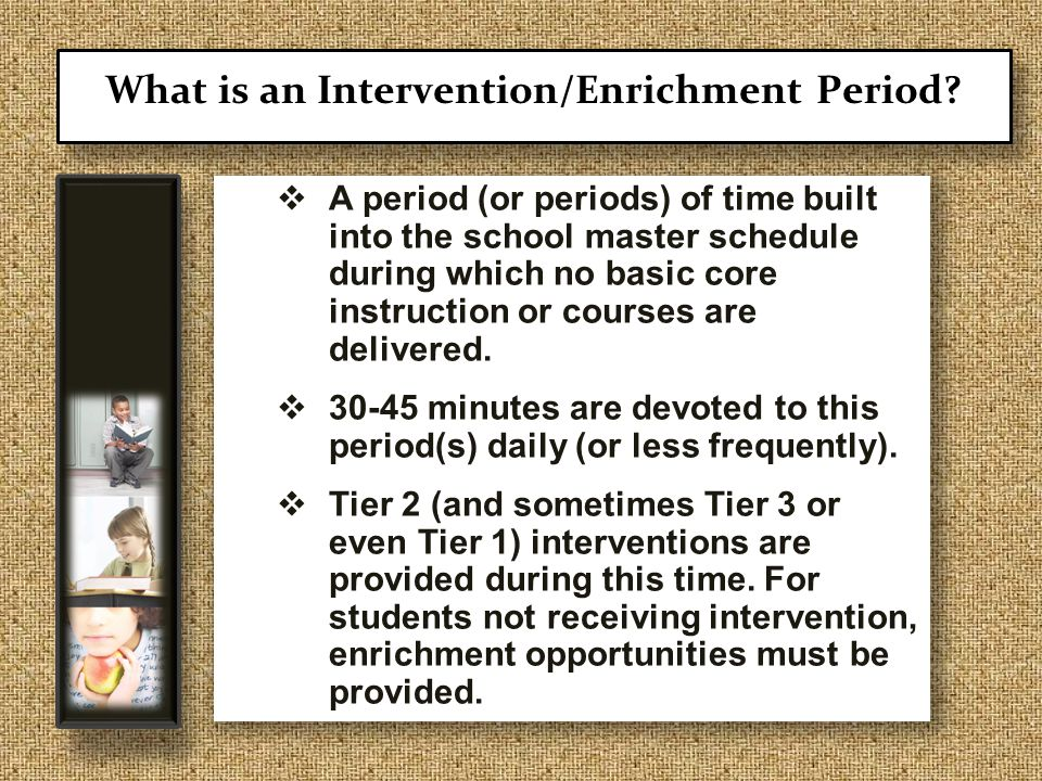  A period (or periods) of time built into the school master schedule during which no basic core instruction or courses are delivered.