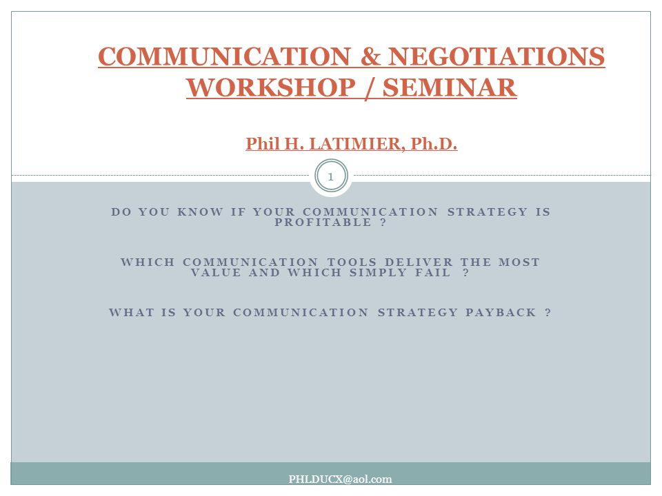 DO YOU KNOW IF YOUR COMMUNICATION STRATEGY IS PROFITABLE .