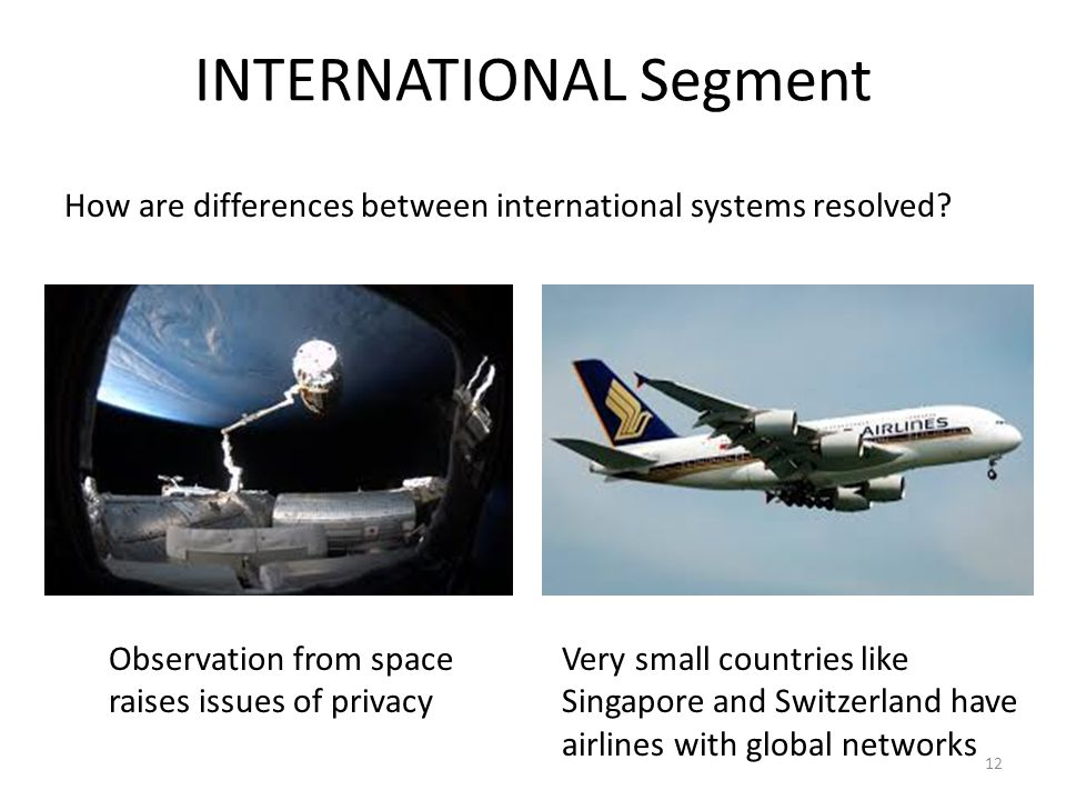 INTERNATIONAL Segment How are differences between international systems resolved.