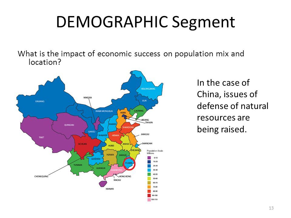 DEMOGRAPHIC Segment What is the impact of economic success on population mix and location.