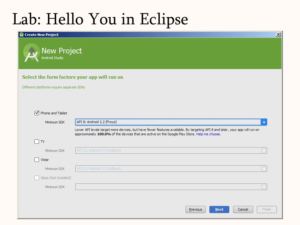 Lab: Hello You in Eclipse