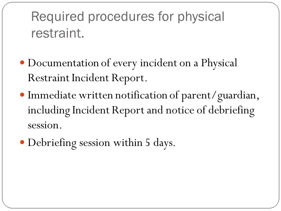 Nothing in this law is intended to interfere with… Appropriate use of Time-out, as defined.