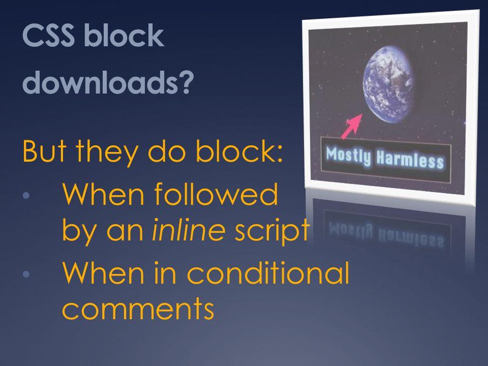 CSS block downloads.
