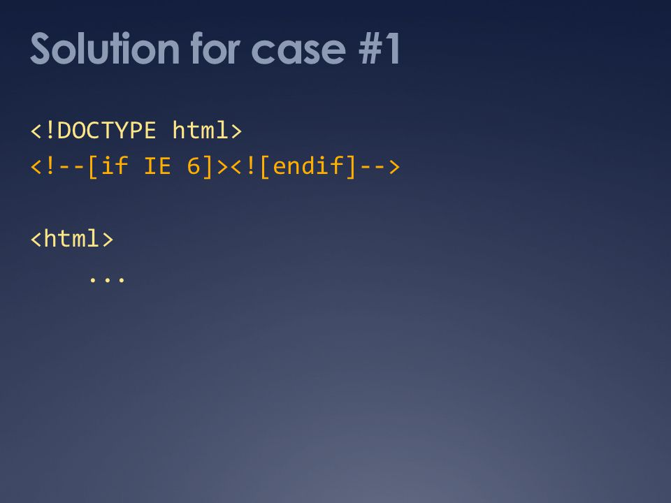 Solution for case #1...