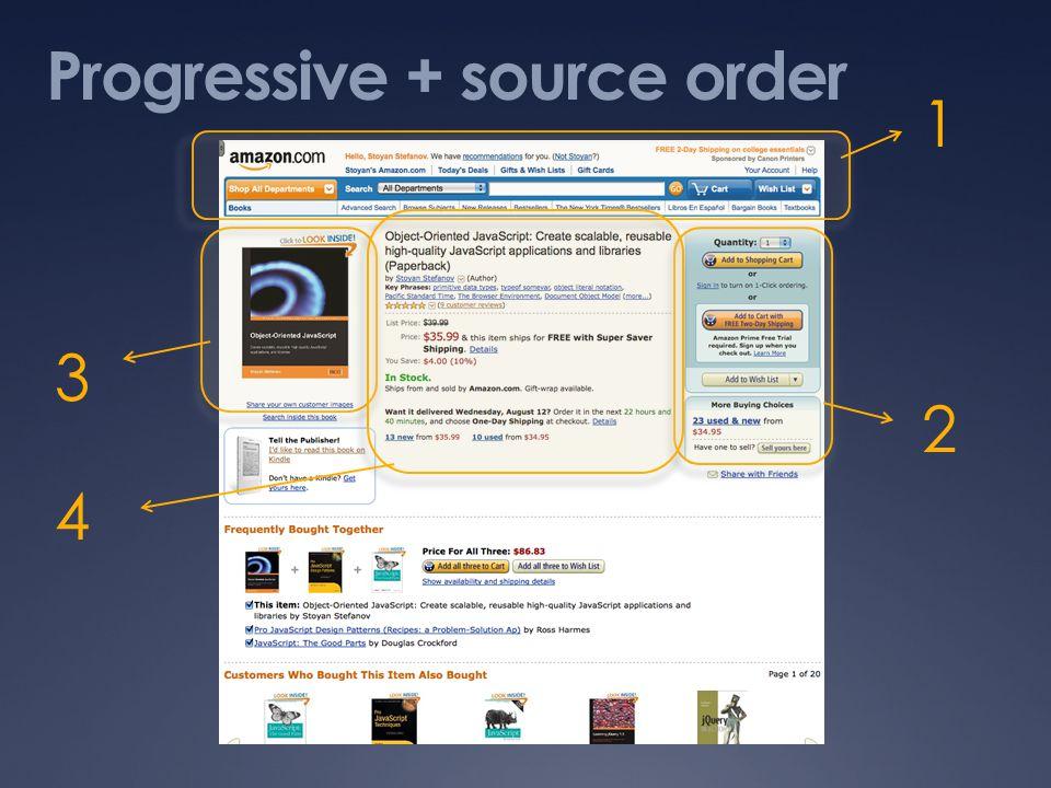 Progressive + source order 1 2 3 4