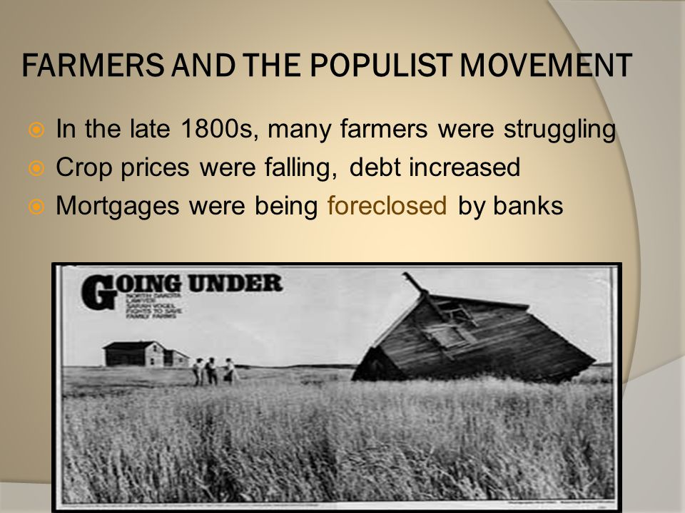 Problems with Improvements  Farm jobs decreased  The price for crops dropped (too many farmers producing)