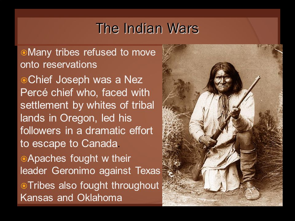 Sand Creek Massacre  Due to the discovery of gold found in Colorado on land given to Cheyenne & Arapaho. They were forced off the land.  Colorado mi